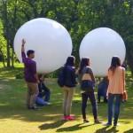 Heliumballon Bestattung im Wald